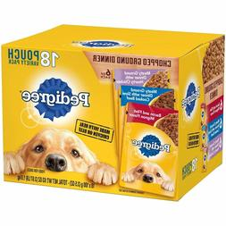 18-Pouches Chopped Ground Dinner Wet Dog Food