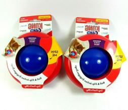 2 KONG Gyro Spin Treat Food Dispenser Roll & Flip Toy Small