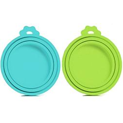 2 Pack Pet Food Can Cover Universal Silicone Cat Dog Food Ca