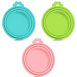 3 Pack Pet Food Can Cover Universal Silicone Cat Dog Food Ca