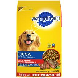 50 lbs PEDIGREE Complete Nutrition Dry Dog Food Grilled Stea