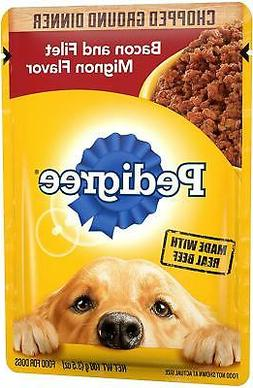 Pedigree Chopped Ground Dinner Adult Wet Dog Food Pouches, 3