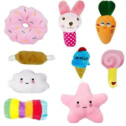 Cloud, Star, Food Shaped Plush Toys Squishy Soft Chew for Pe