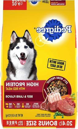 Pedigree High Protein Adult Dry and Wet Canned Dog Food