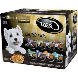 Cesar Home Delights Wet Dog Food, 8 Flavor Variety Pack in S