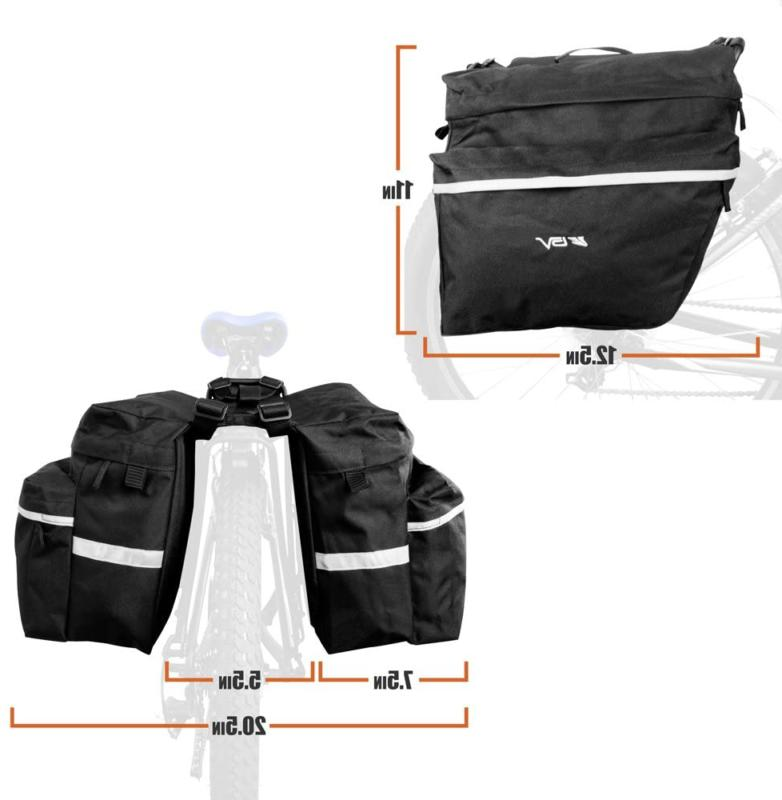 Bv Bike Panniers With Adjustable Carrying Handle,