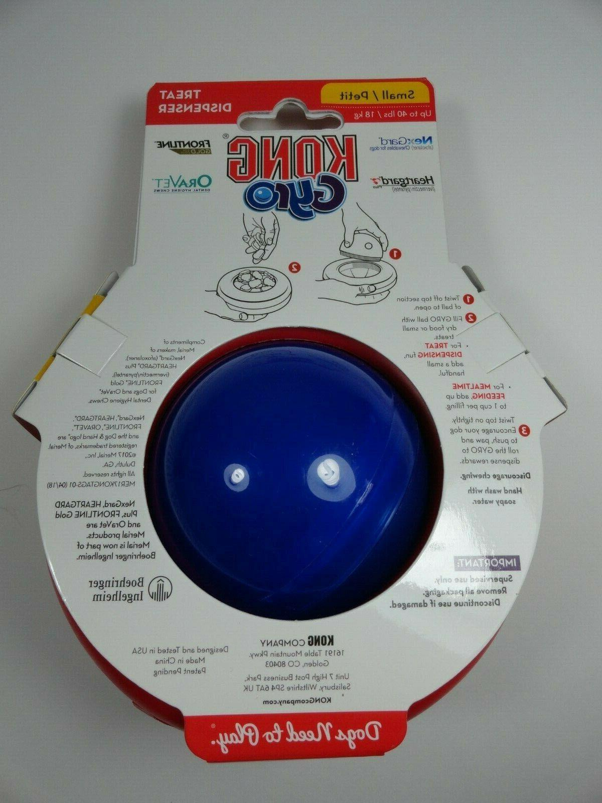 KONG Gyro Spin Food Roll Flip or Puppy New
