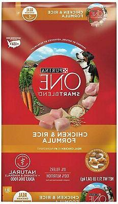 Purina ONE Natural Dry Dog Food; SmartBlend Chicken and Rice