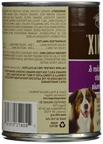 Organix Organic And Potatoes Canned Canine Dog -Pack