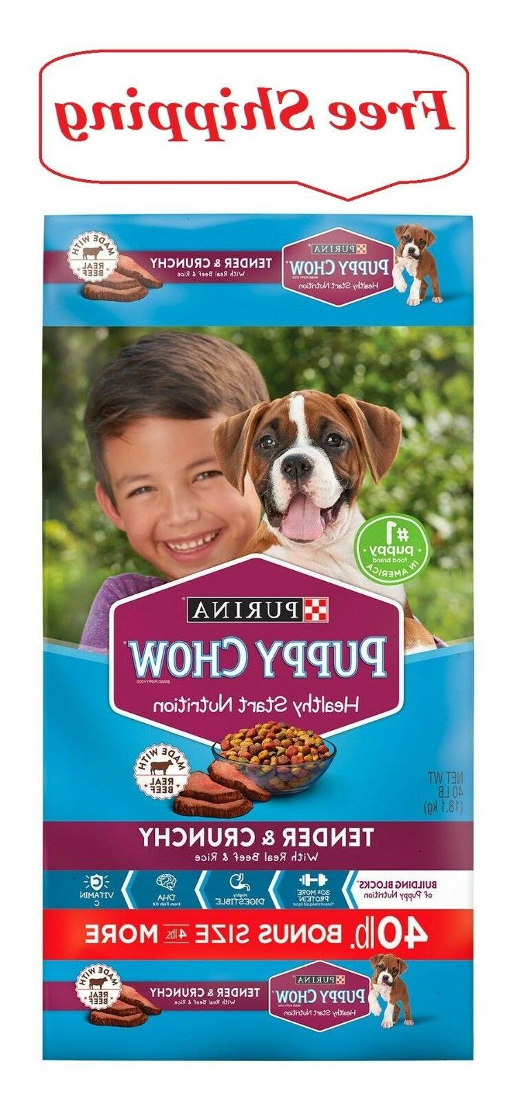 Purina Puppy Chow Tender  Crunchy Dry Dog Food