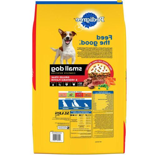 Pedigree Small Nutrition, Steak and Dry lbs.
