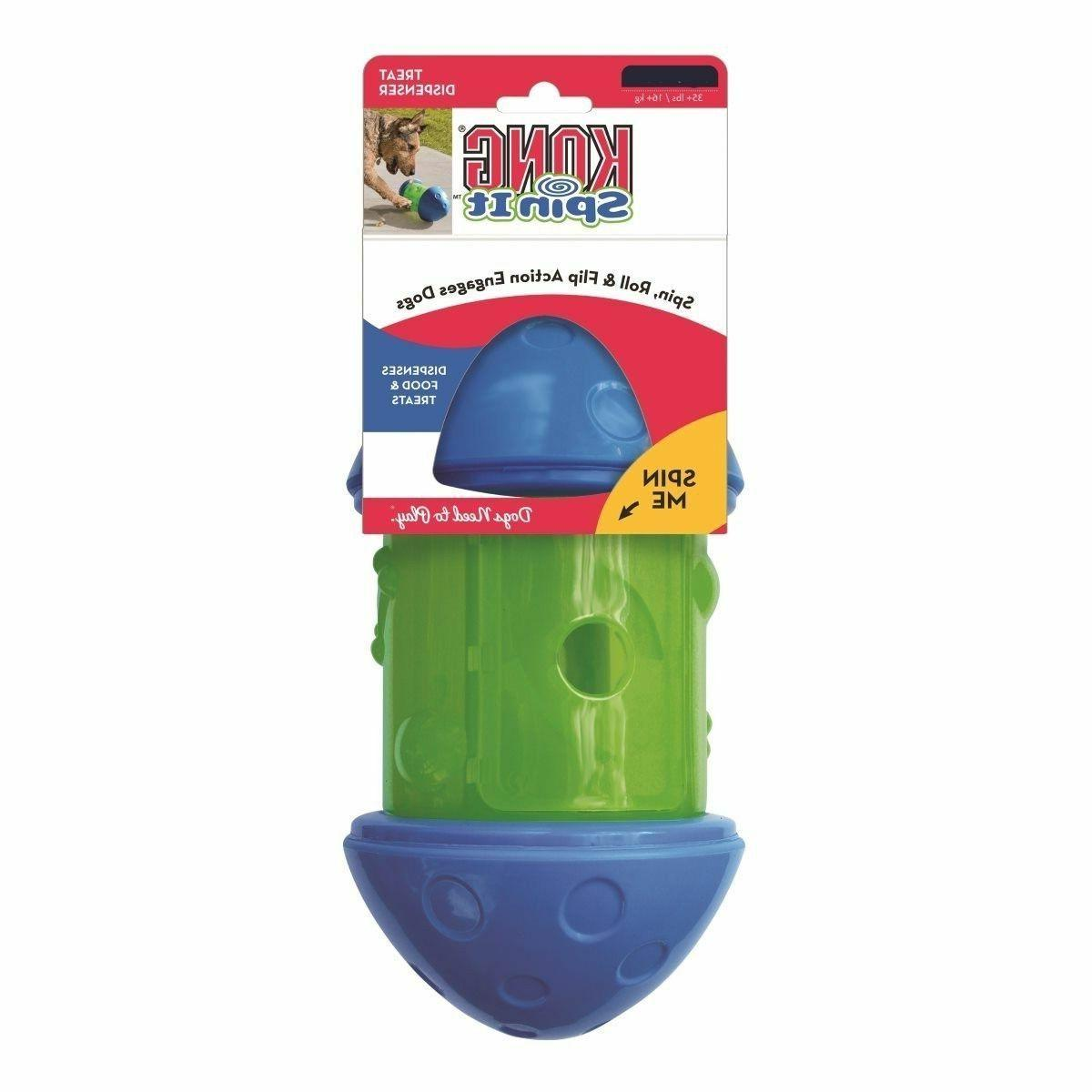 Kong Spin It Treat Dispensing Dog Toy Small  Puzzle Interact