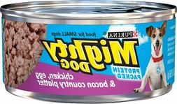 Purina Mighty Dog Wet Dog Food, Chicken, Egg & Bacon -  5.5