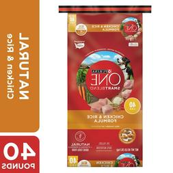 Purina ONE Natural Dry Dog Food, SmartBlend Chicken & Rice F