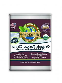 Natural Planet Organic Turkey Dinner Grain Free Canned Dog F