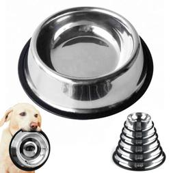 No-Slip Pet Dog Bowl Food Water Drink Dish Feeder for Small