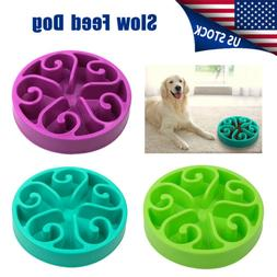 Non Slip Pet Dog Puppy Slow Down Eating Feeding Bowl Anti Ch