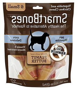 SmartBones Rawhide-Free Dog Chews, Made With Real Peanut But