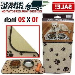 Pet Feeding Mat Anti Skid Absorbent Microfiber Dog Food Wate