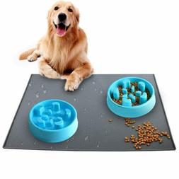 Pet Food Silicone Mat Non-Toxic Dogs Mat Waterproof Non-slip