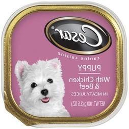Cesar Puppy With Chicken & Beef in Meaty Juices