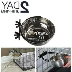 Stainless Steel Dog Food Bowl Pet Cat Animal Standard Crate